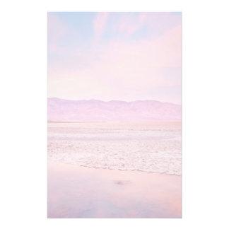Salt Water Lake Death Valley Stationery
