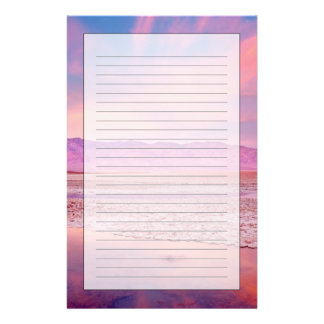 Salt Water Lake Death Valley Stationery Paper