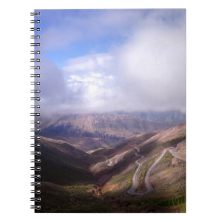 Salta Mountain Serpentine Road With Low Clouds Spiral Notebook