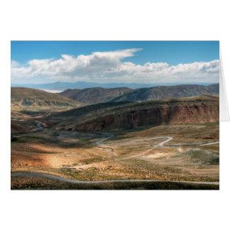 Salta Serpentine Road And Salt Flats In Distance Card