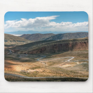 Salta Serpentine Road And Salt Flats In Distance Mouse Mat