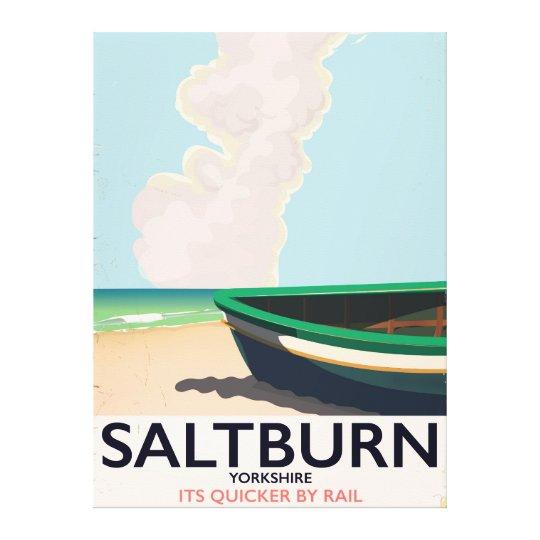 Saltburn - Yorkshire vintage travel poster. Canvas Print