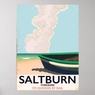 Saltburn - Yorkshire vintage travel poster. Poster