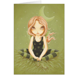 Salting slugs - fairy slug card