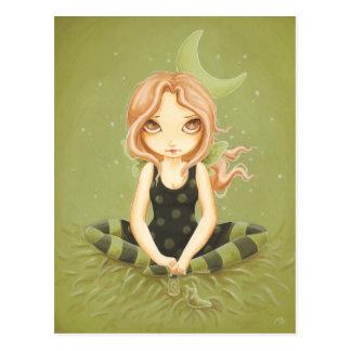 Salting Slugs - Fairy slug postcard