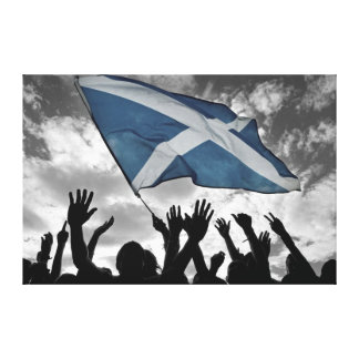 Saltire Celebration Canvas Print