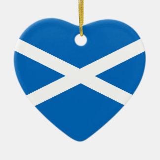 Saltire flag of Scotland Ceramic Heart Decoration
