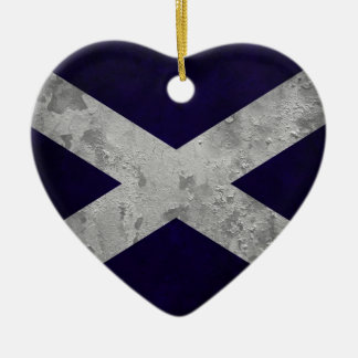 Saltire Grunge Christmas Ornament