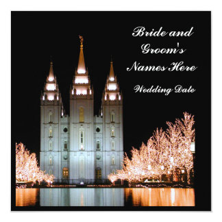 SaltLakeTemple-InvitationToWeddingReception Card