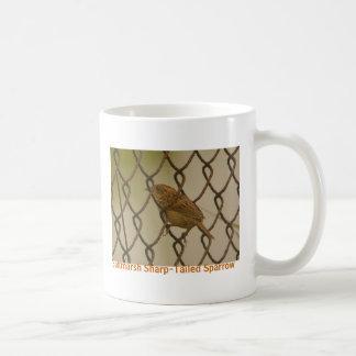 Saltmarsh Sharp-Tailed Sparrow fence 2, Birdwat... Coffee Mug