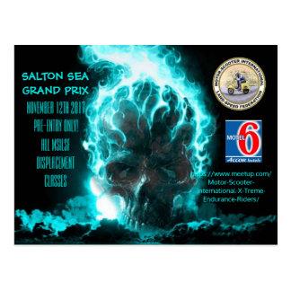 SALTON SEA GRAND PRIX POSTER POSTCARD
