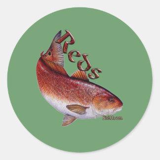 Saltwater Collection of Fish Round Sticker