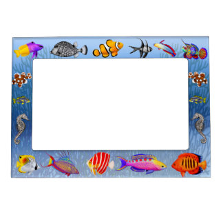 Saltwater Coral Reef Aquarium Fish Magnetic Frame