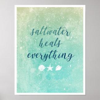 Saltwater Heals Everything | Poster