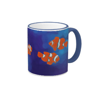 saltwater tropical clown fish mugs