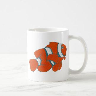 saltwater tropical clown fish coffee mugs