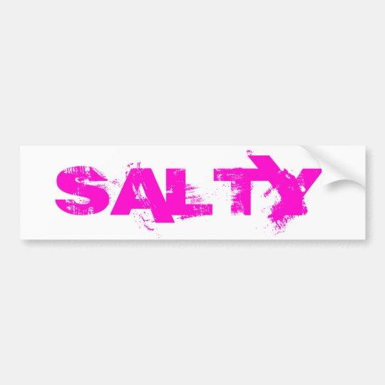 SALTY BUMPER STICKER