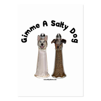 Salty Dog Salt and Pepper Dogs Business Card Templates
