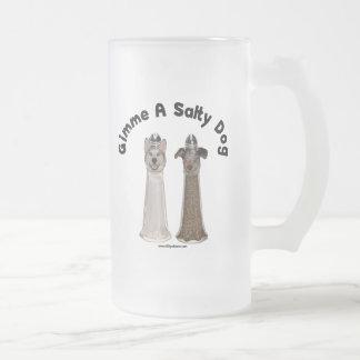 Salty Dog Salt and Pepper Dogs Coffee Mugs