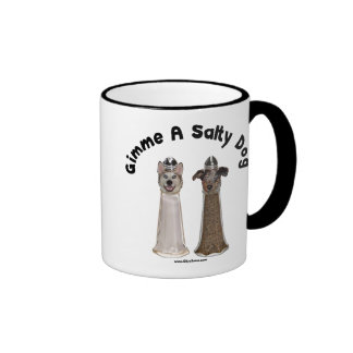 Salty Dog Salt and Pepper Dogs Coffee Mug