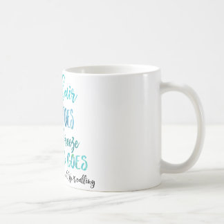 Salty Hair Sandy Toes Ocean Beach Quote Coffe Mug