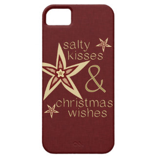 Salty Kisses Christmas Wishes iPhone 5 Covers