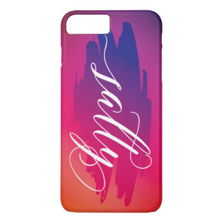 Salty modern watercolor slang words iPhone case