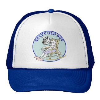 Salty Old Dog Mesh Hats