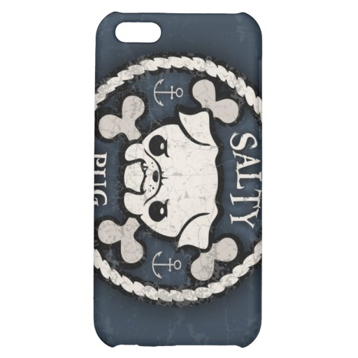 Salty Pug iPhone 5C Cover