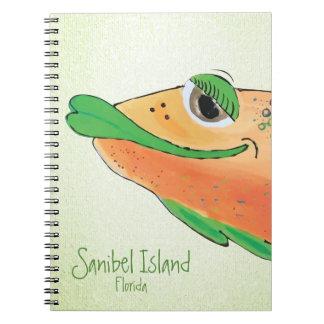Salty Sam Adorable Fish Art - Sanibel Island Notebooks