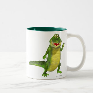 Salty the Crocodile Two-Tone Coffee Mug