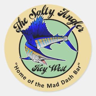 SaltyAngler Round Sticker