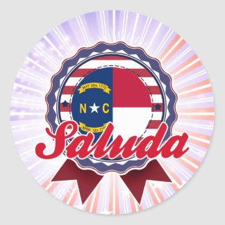 Saluda, NC Classic Round Sticker
