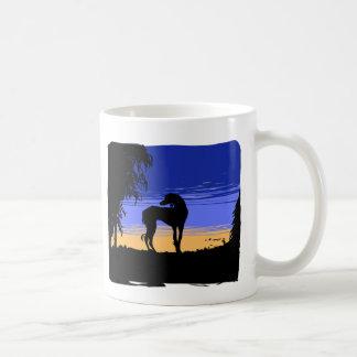 Saluki ate night coffee mug