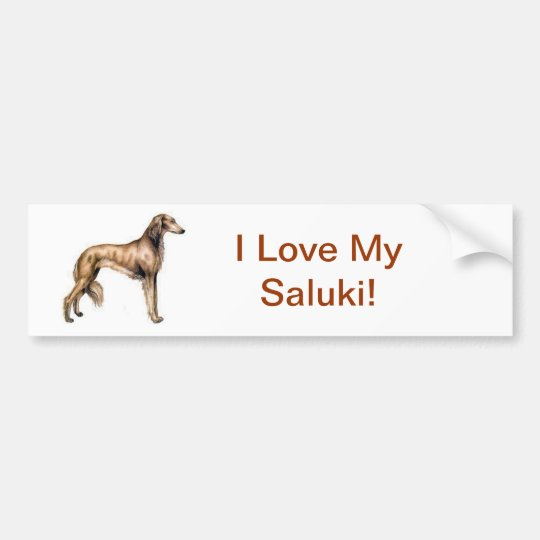 Saluki Bumper Sticker