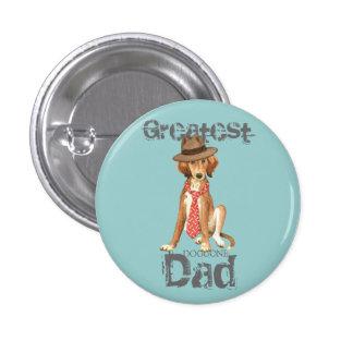 Saluki Dad 3 Cm Round Badge