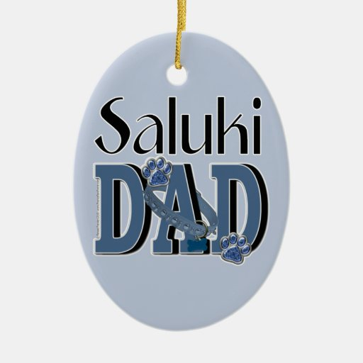 Saluki DAD Christmas Tree Ornaments
