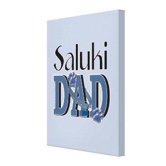 Saluki DAD Stretched Canvas Print