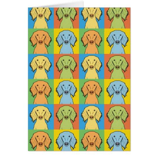 Saluki Dog Cartoon Pop-Art, Persian Greyhound Card