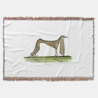 Saluki dog, tony fernandes throw blanket