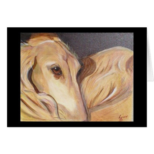 Saluki Dreams Greeting Card