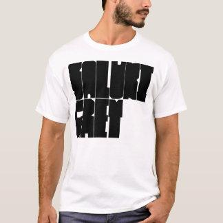Saluki Grey black block letters T-Shirt