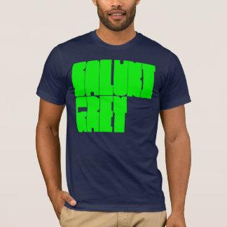 Saluki Grey green block letters T-Shirt