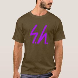 Saluki grey logo purple T-Shirt