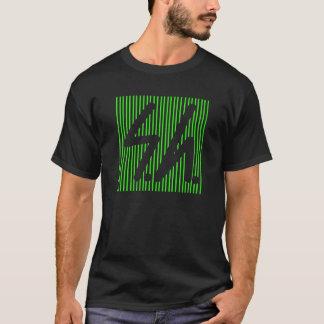 Saluki grey logo reverse green T-Shirt