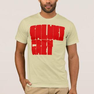 Saluki Grey red block letters T-Shirt
