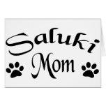 Saluki Mum (Fancy Text) Greeting Cards