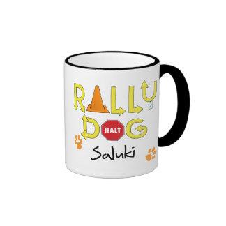 Saluki Rally Dog Ringer Mug