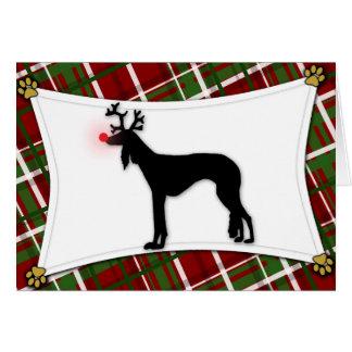 Saluki Reindeer Christmas Card