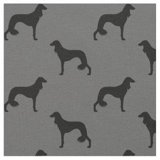 Saluki Silhouettes Pattern Fabric
